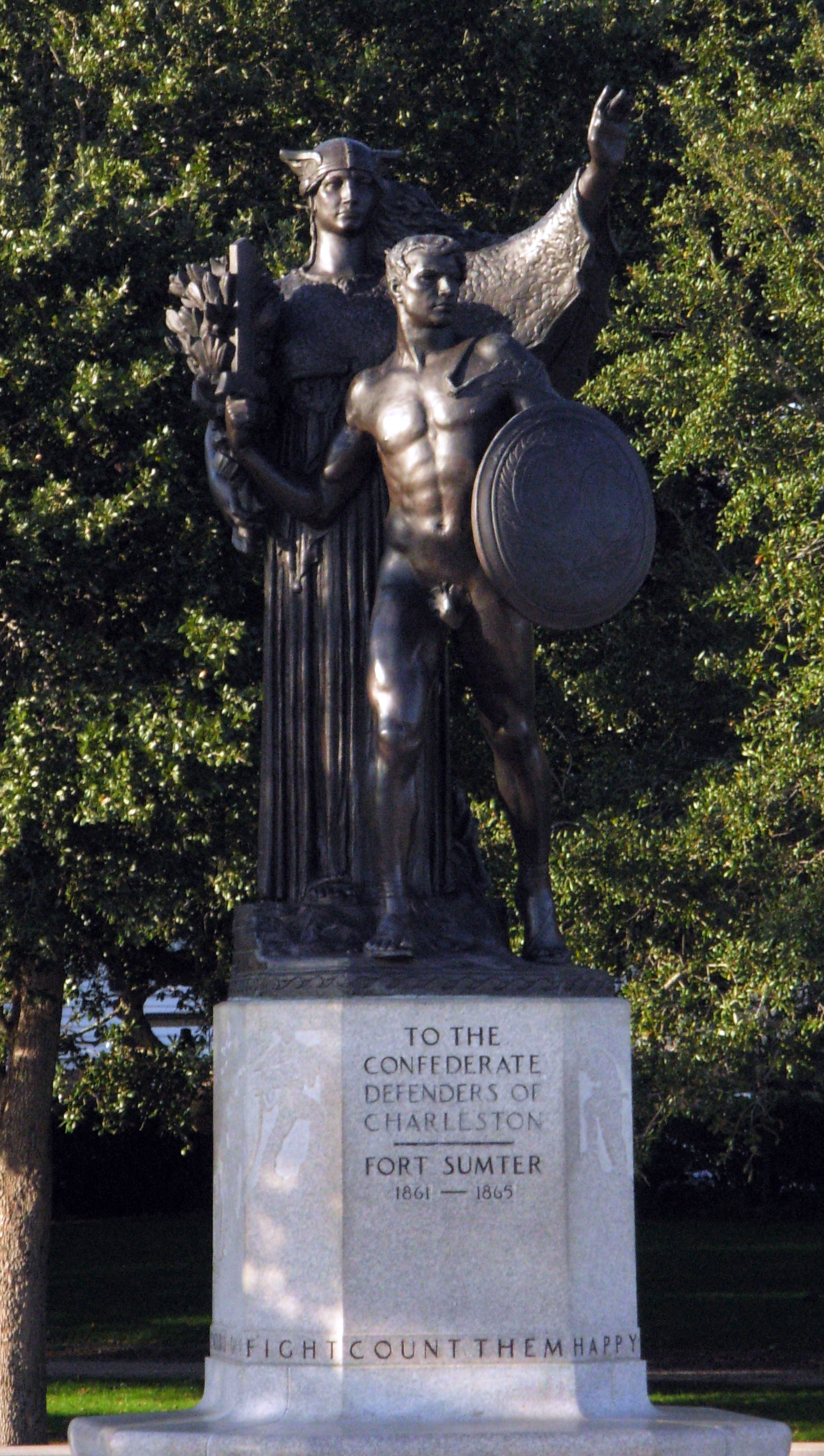 Confesderate monument haunted White Point Gardens Battery Charleston South Carolina pirate executions Stede Bonnet 1718 Southern ghosts