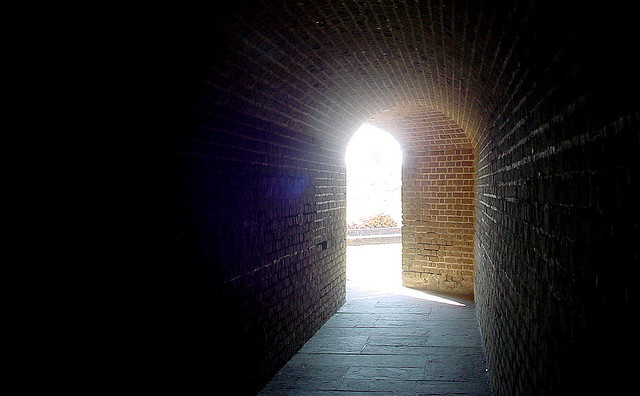 corridor Fort Clinch Fernandina Beach Florida ghosts haunted