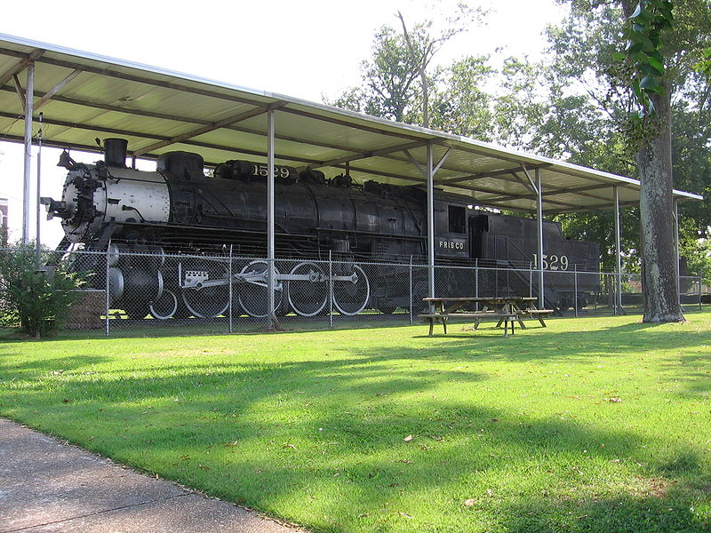 haunted Amory Regional Museum Mississippi Frisco locomotive Frisco Park ghosts