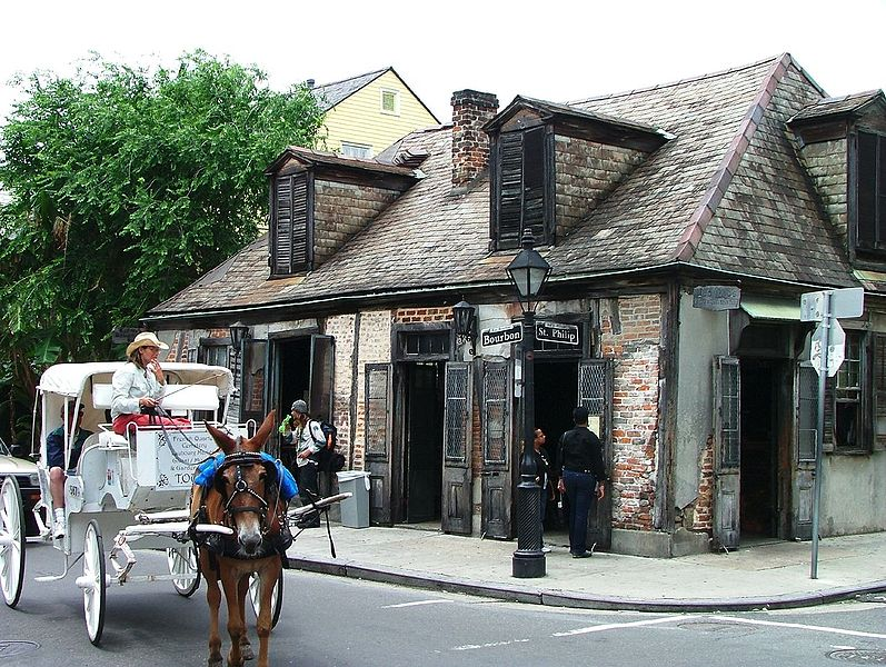 Lafitte's Blacksmith Shop Bar French Quarter New Orleans Louisiana ghosts haunted