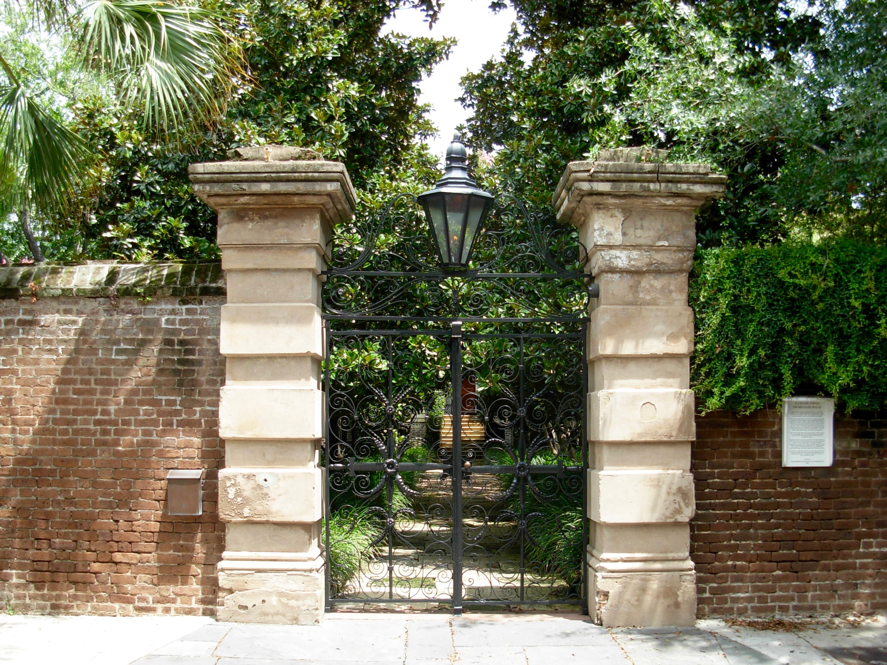Gates of the Sword Gates House Charleston SC ghosts haunted