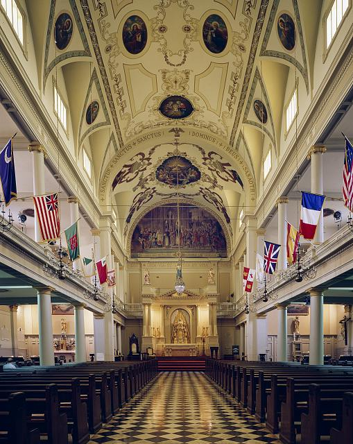 interior of St. Louis Cathedral New Orleans