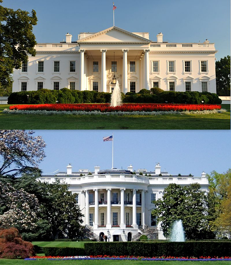 White House North and South facades