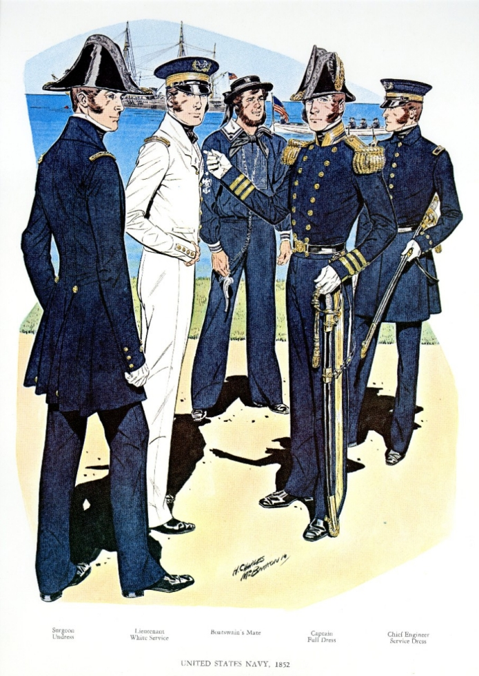US Navy uniforms 1852