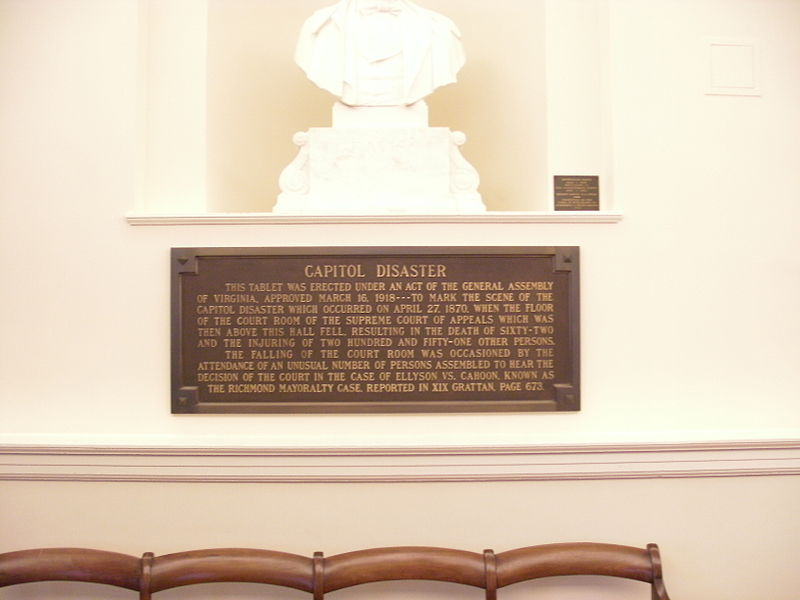 Virginia State Capitol Richmond plaque