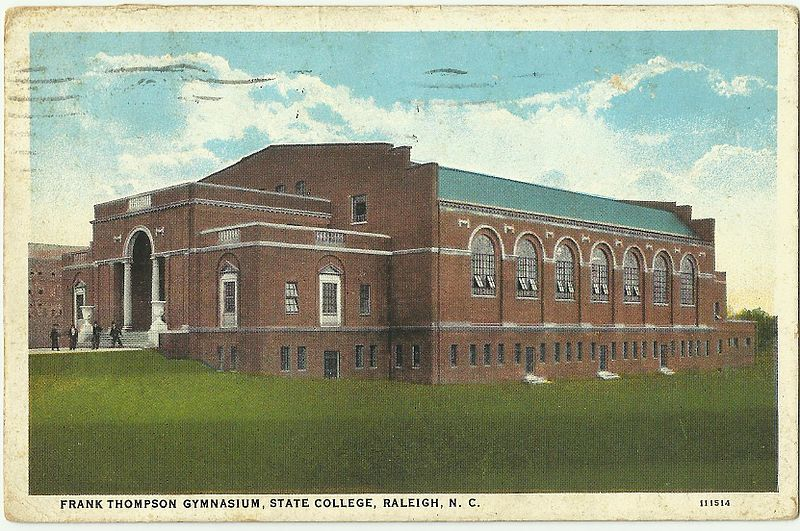 Postcard Frank Thompson Gymnasium NC State University Raleigh North Carolina