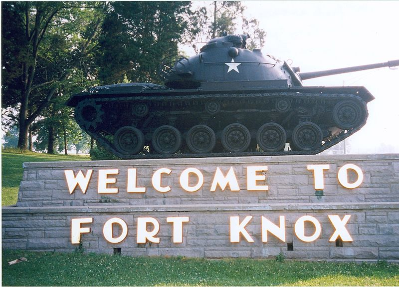 Fort Knox Kentucky entrance sign
