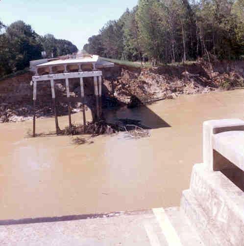 Homochitto River bridge Rosetta Mississippi 1974 flood