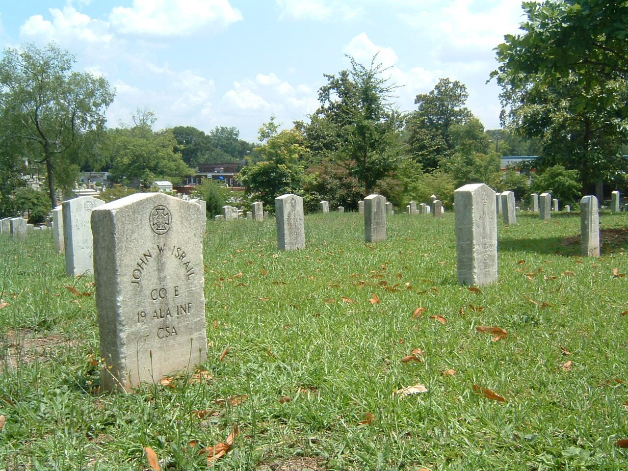 Confederate dead Oakland Cemetery Atlanta Georgia