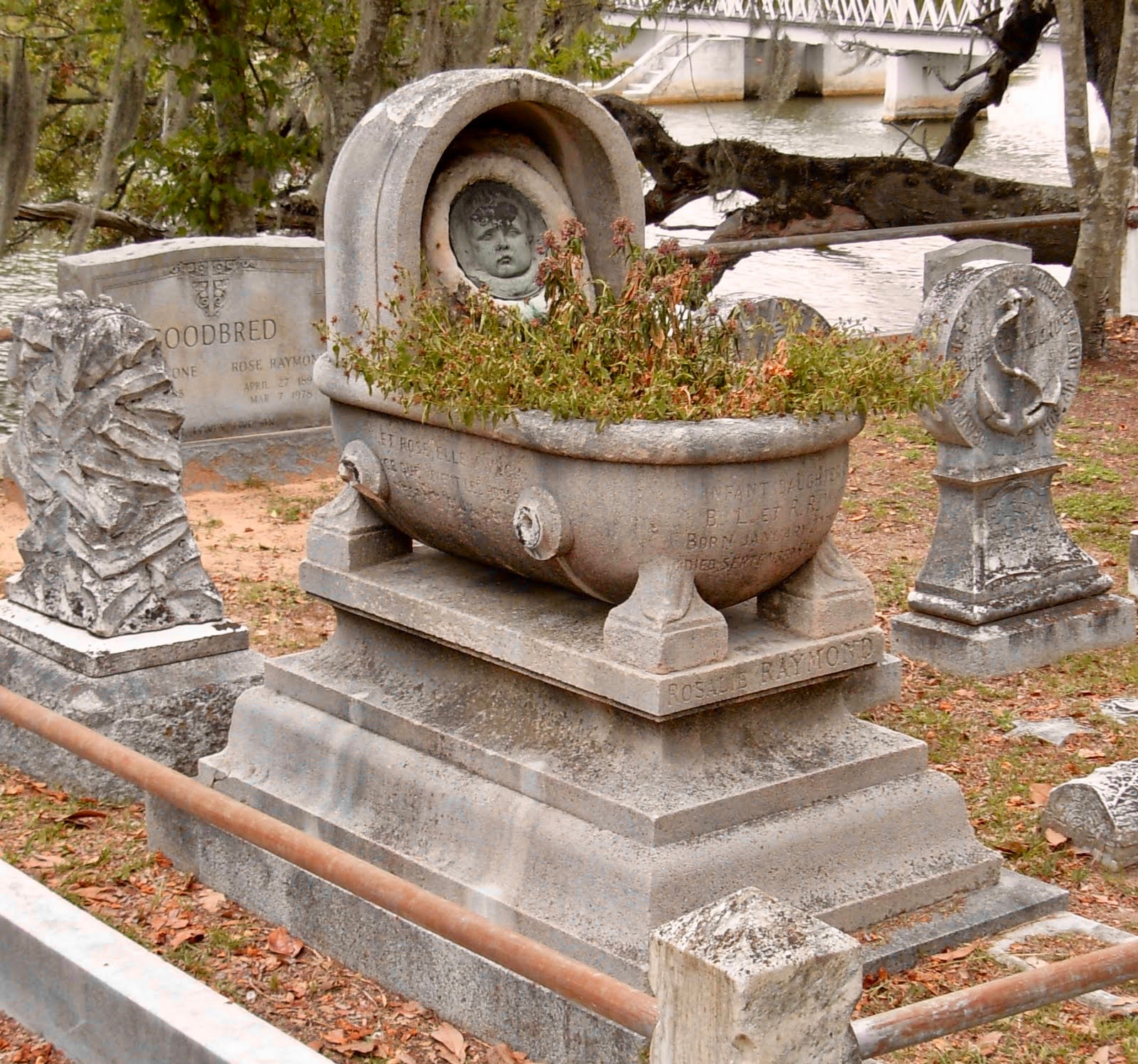 Grave of Rosalie Raymond White in Magnolia Cemetery Charleston SC ghosts haunted