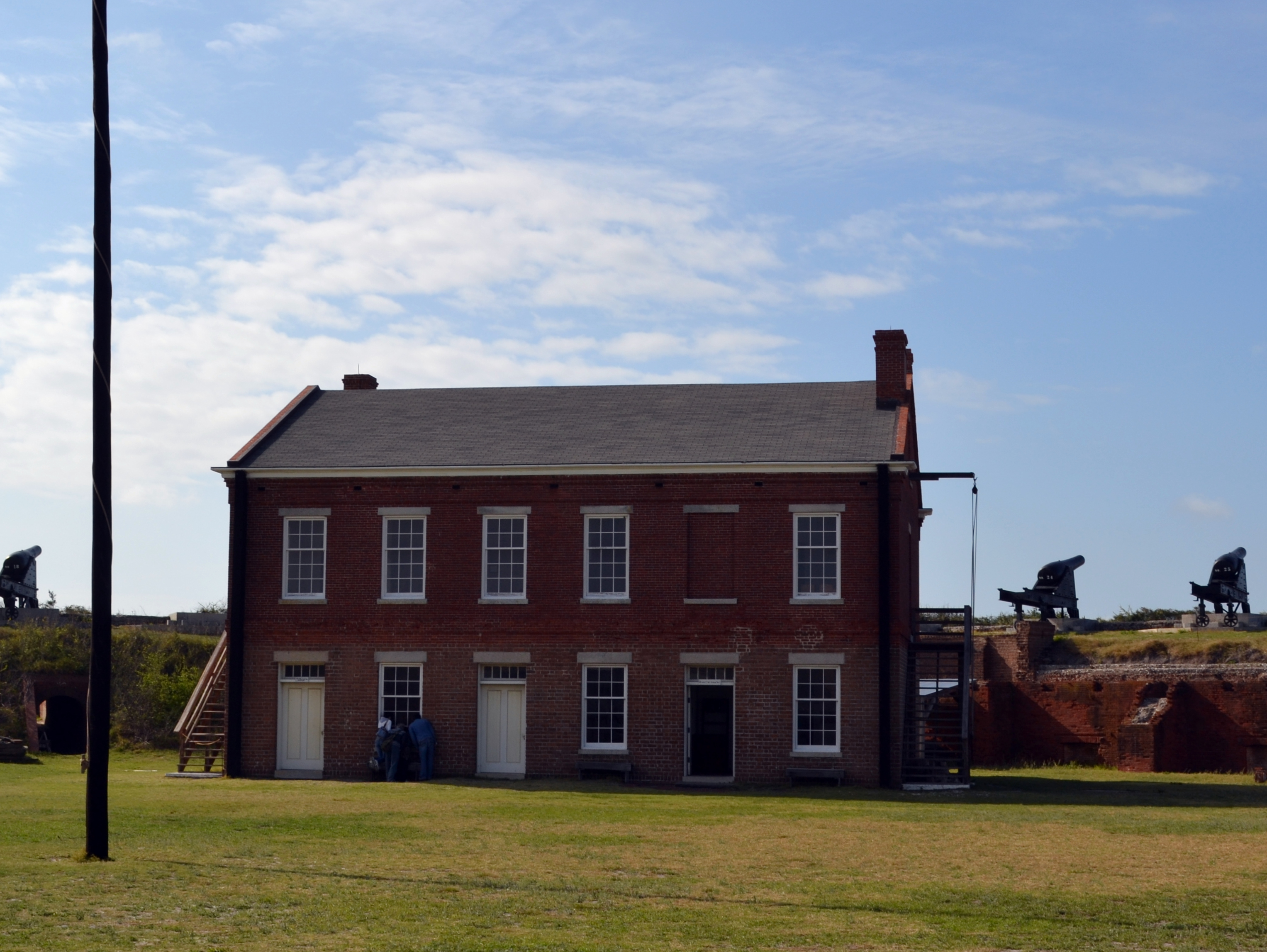 barracks building Fort Clinch Fernandina Beach Florida ghosts haunted