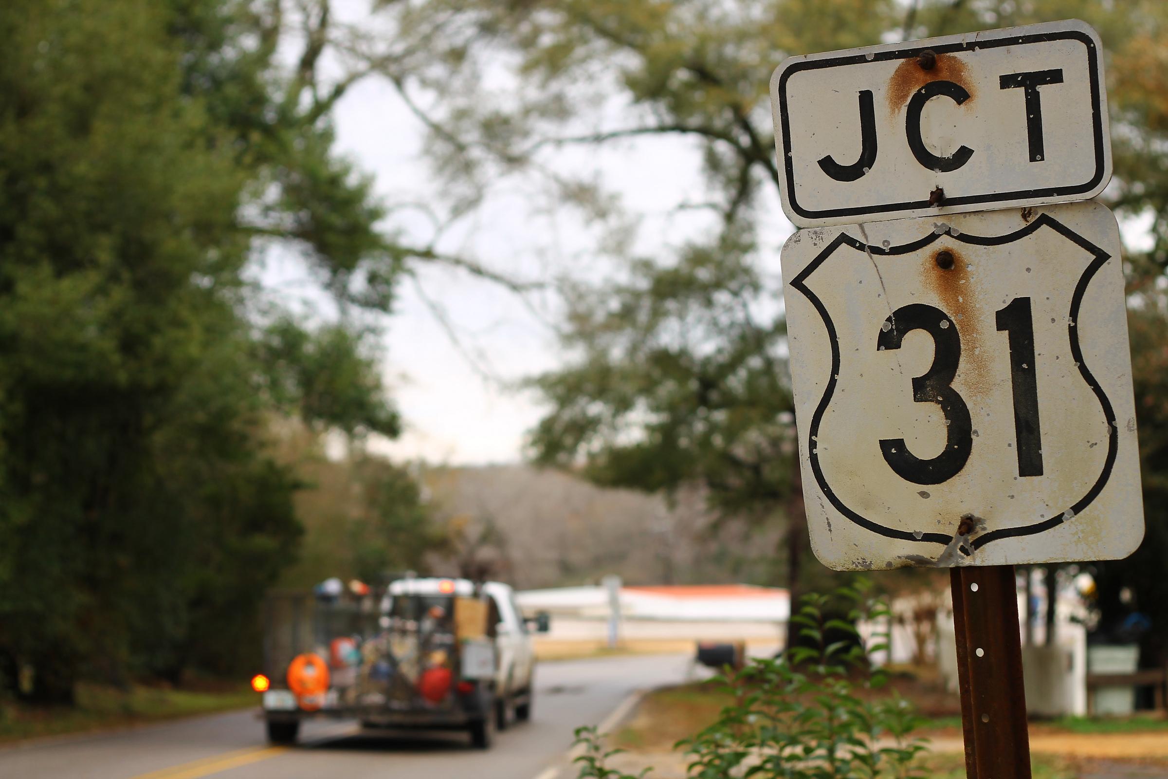 US-31 sign Alabama