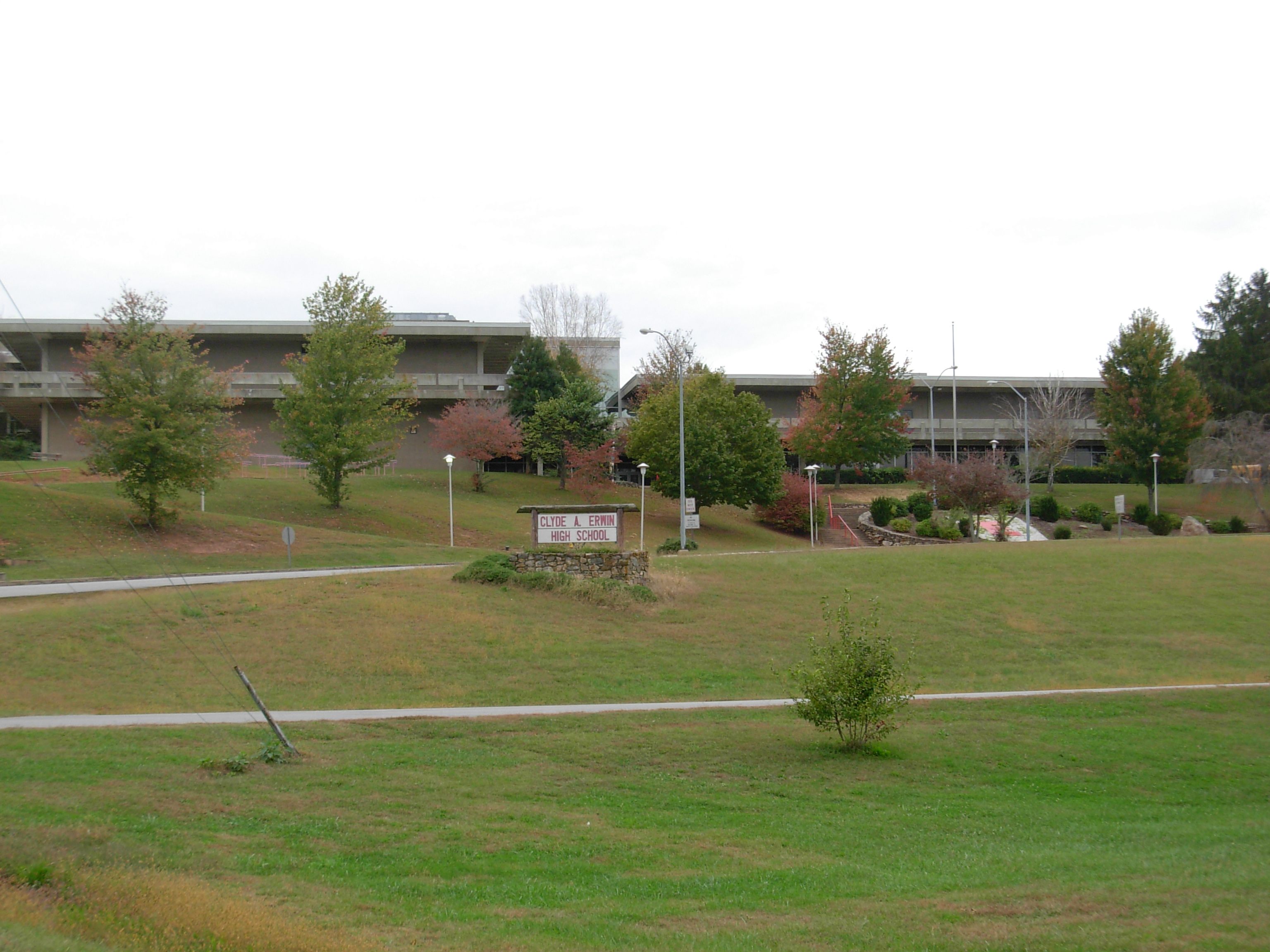 haunted Erwin High School Asheville North Carolina ghosts built on a cemetery