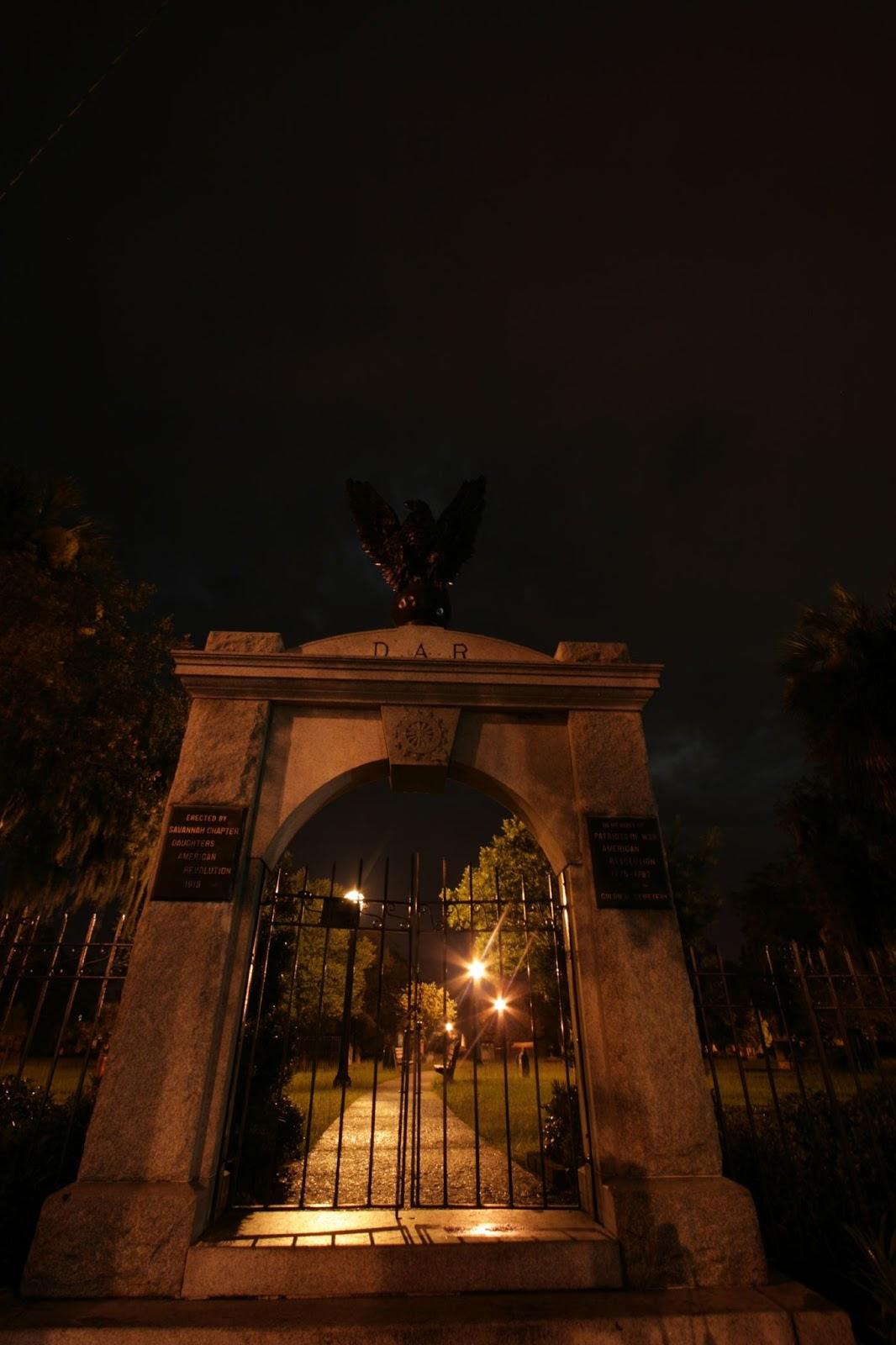 gates of Colonial Park Cemetery Savannah Georgia ghosts haunted