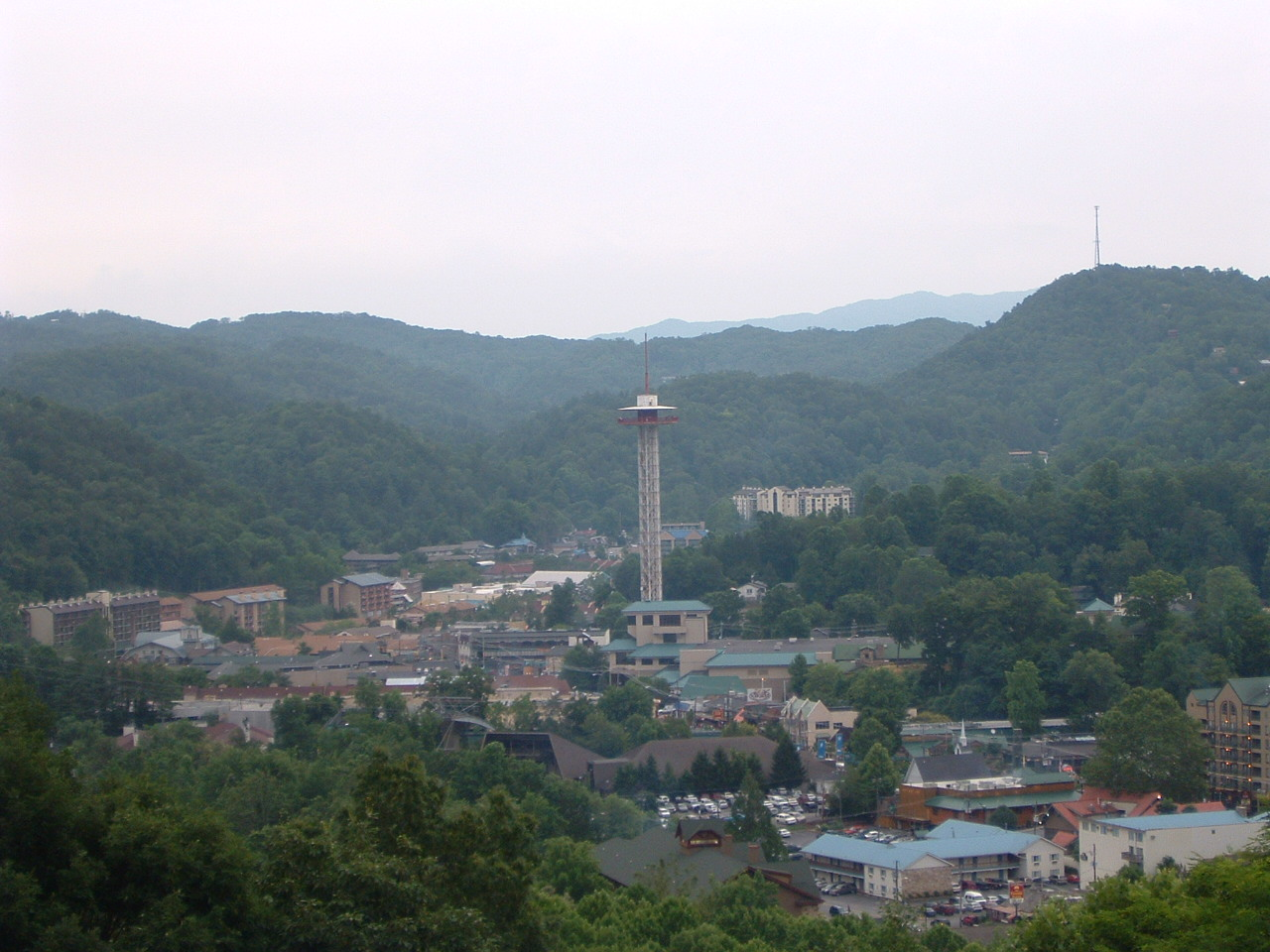 Gatlinburg Tennessee space needle Historic Nature Trail