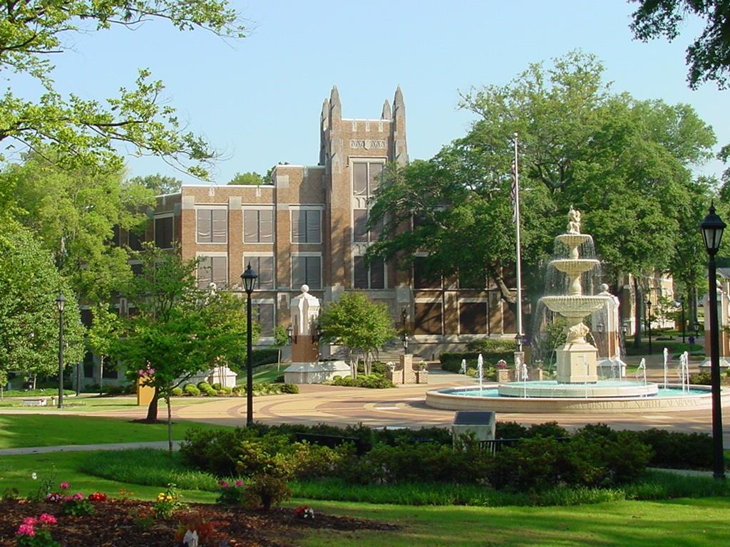 Harrison Plaza Bibb Graves Hall University of North Alabama ghosts haunted Florence Alabama