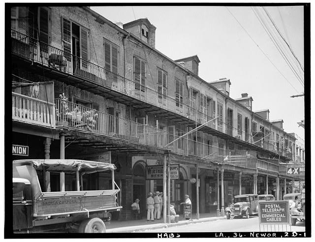 Ursuline Row HABS photo New Orleans ghosts French Quarter