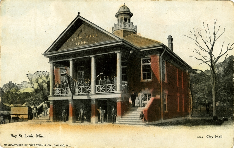 Bay St. Louis Mississippi city hall haunted ghost