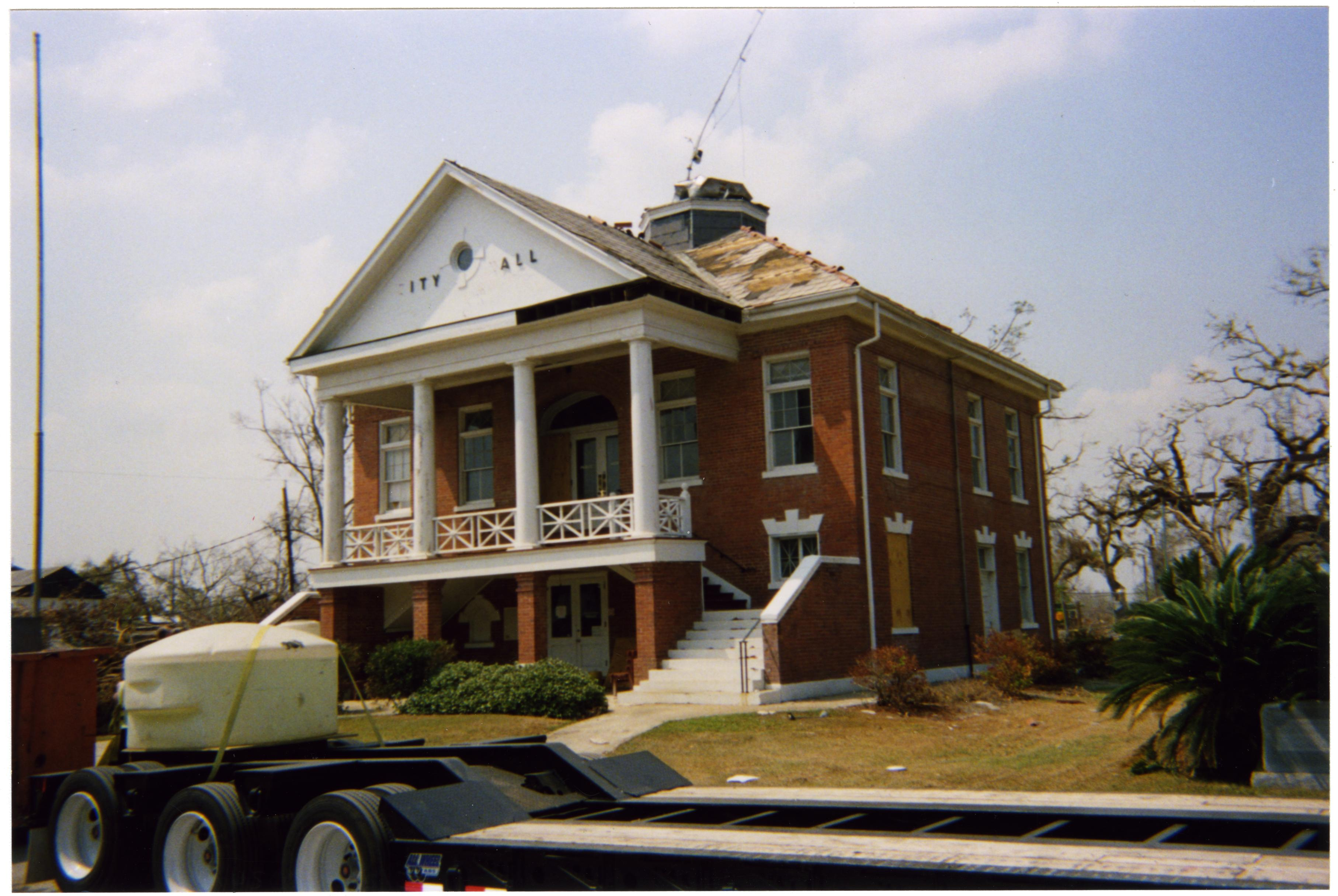 Bay St. Louis Mississippi city hall haunted ghost Hurricane Katrina damage