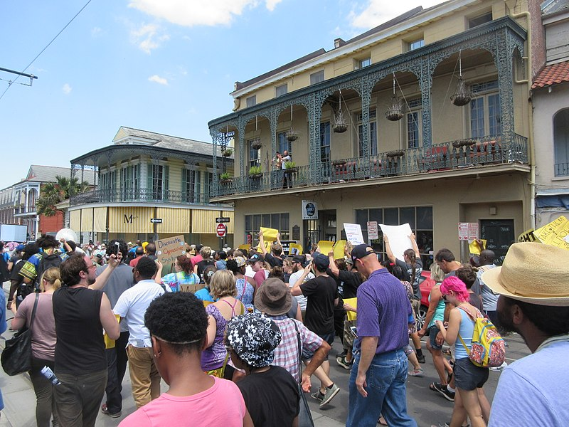 Rampart Street protest 2017 New Orleans