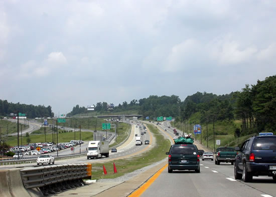 congestion on the West Virginia Turnpike