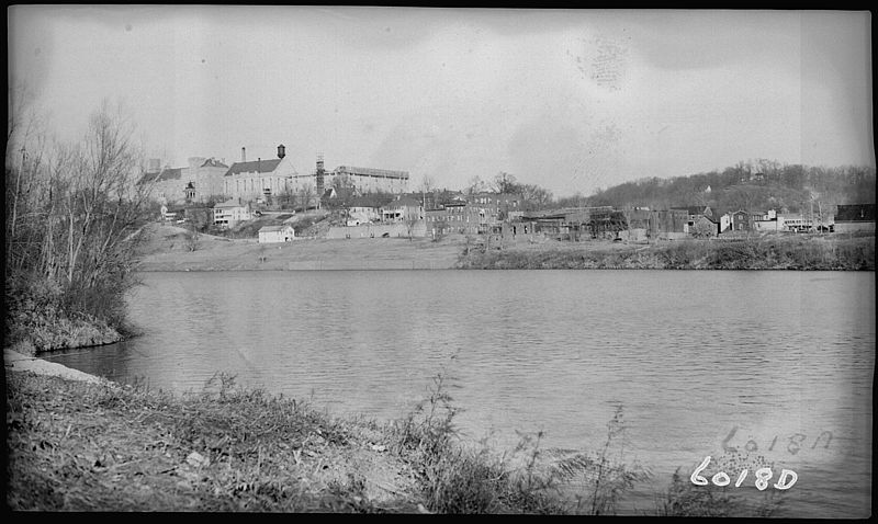 view of Kentucky State Penitentiary from the Cumberland River
