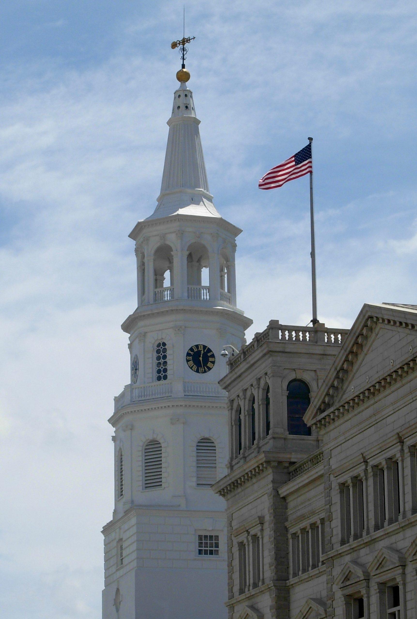 spire of St Michaels Church Charleston SC
