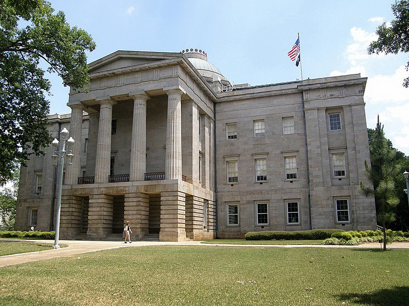 North Carolina State Capitol, 2007. Photo by Jim Bowen, courtesy of Wikipedia.