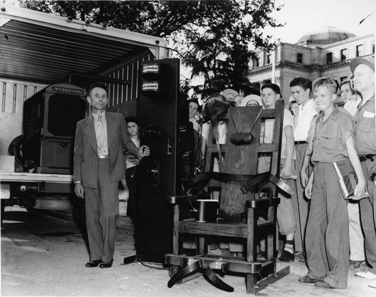 Mississippi's portable electric chair